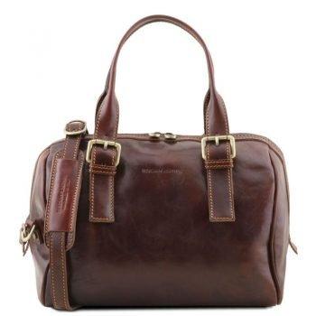 EVELINE Leather duffle bag