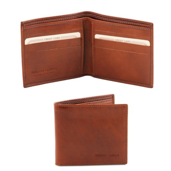 Exclusive 2 Fold Leather Wallet for Men - Crissolo