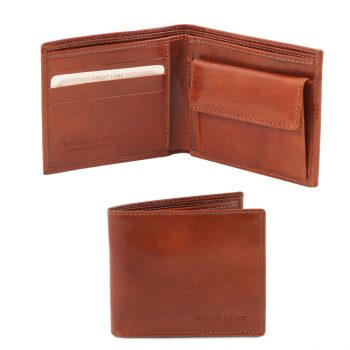Exclusive 2 Fold Leather Wallet for Men with Coin Pocket - Curnier