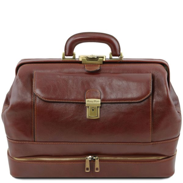 Exclusive Double-Bottom Leather Doctor Bag - Giotto