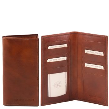 Exclusive Leather 2 Fold Vertical Wallet - Langres