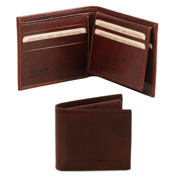 Exclusive Leather 3 Fold Wallet for Men - Allex
