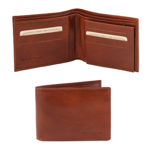 Exclusive Leather 3 Fold Wallet for Men - Ancelle