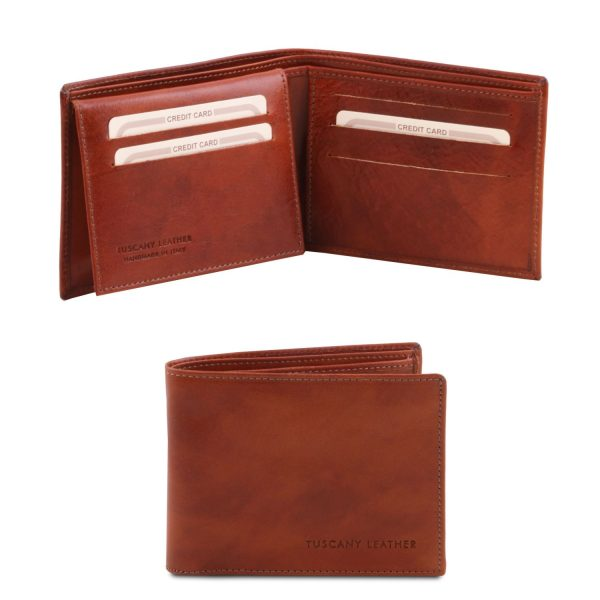 Exclusive Leather 3 Fold Wallet for Men - Paesana