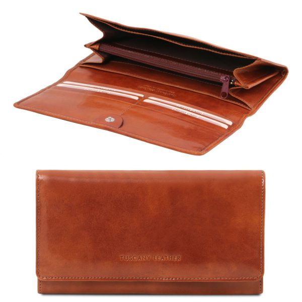 Exclusive Leather Accordion Wallet for Women - Dole