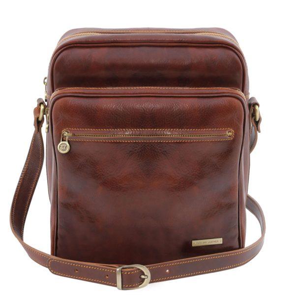 Exclusive Leather Crossbody Bag - Oscar