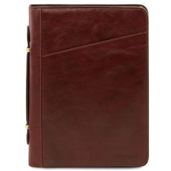 Exclusive Leather Document Case with Handle - Claudio