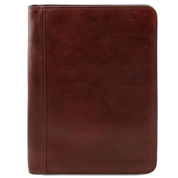 Exclusive Leather Document Case with Ring Binder - Lucio