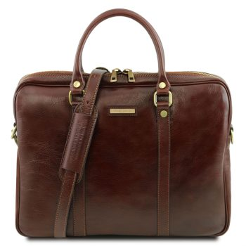 Exclusive Leather Laptop Briefcase - Prato