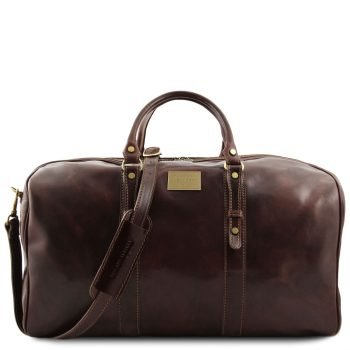 Exclusive Leather Weekender Travel Bag – Large size – Francoforte