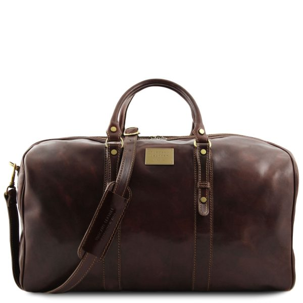 Exclusive Leather Weekender Travel Bag – Large size – Francoforte