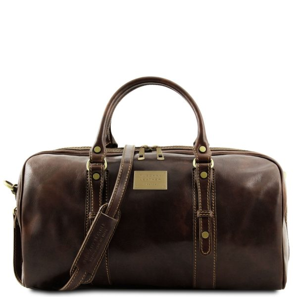 Exclusive Leather Weekender Travel Bag - Small Size - Francoforte
