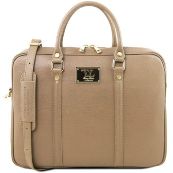 Exclusive Saffiano Leather Laptop Case - Prato