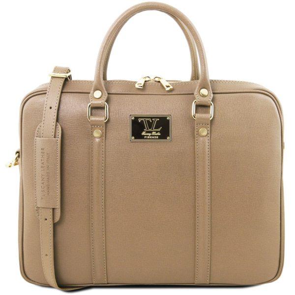 Exclusive Saffiano Leather Laptop Case - Prato