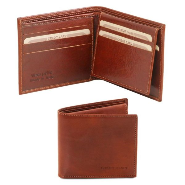 Exclusive leather 3 fold wallet for men