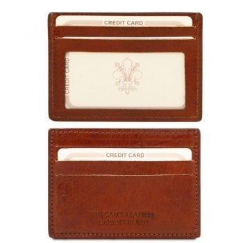 Exclusive leather credit - business card