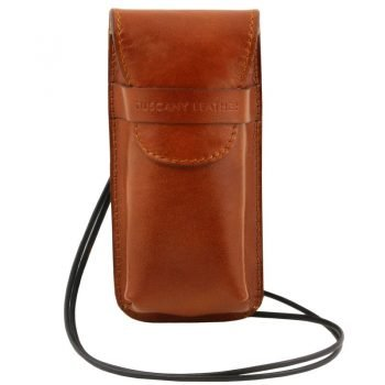 Exclusive leather eyeglasses-Smartphone holder Large size