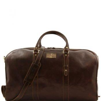 FRANCOFORTE Exclusive Leather Weekender Travel Bag - Large size