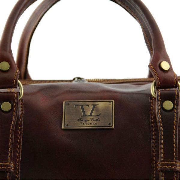 dark brown FRANCOFORTE Exclusive Leather Weekender Travel Bag – Large size  · Home ... 5bf98eb568d5b