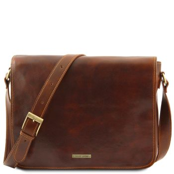 Freestyle Leather Messenger Bag - Double Trouble