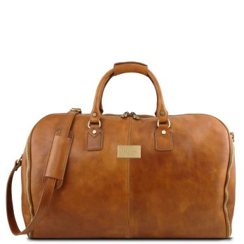 Garment Travel Leather Duffle Bag - Antigua