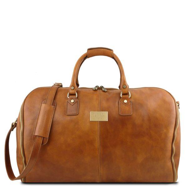 Garment Travel Leather Duffle Bag - Antigua