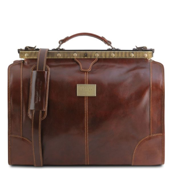 Gladstone Leather Bag - Small Size - Madrid