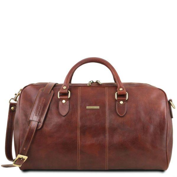 LISBONA Travel leather duffle bag - Large size