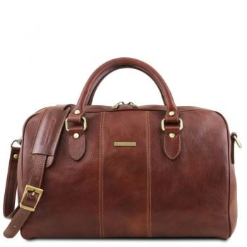 LISBONA Travel leather duffle bag - Small size