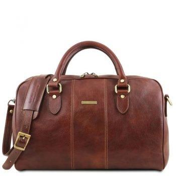 LISBONA Travel leather duffle bag - Small size