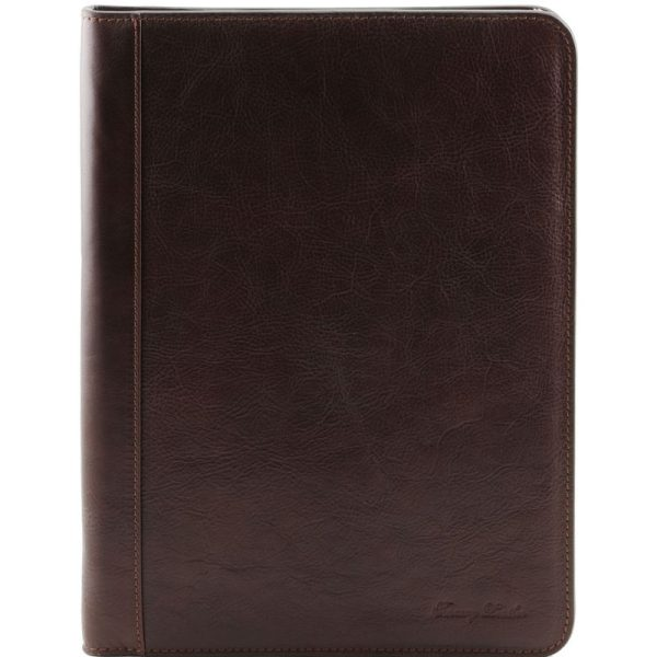LUCIO Exclusive leather document case with ring binder