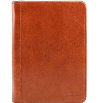 LUIGI XIV Leather document case with zip closure