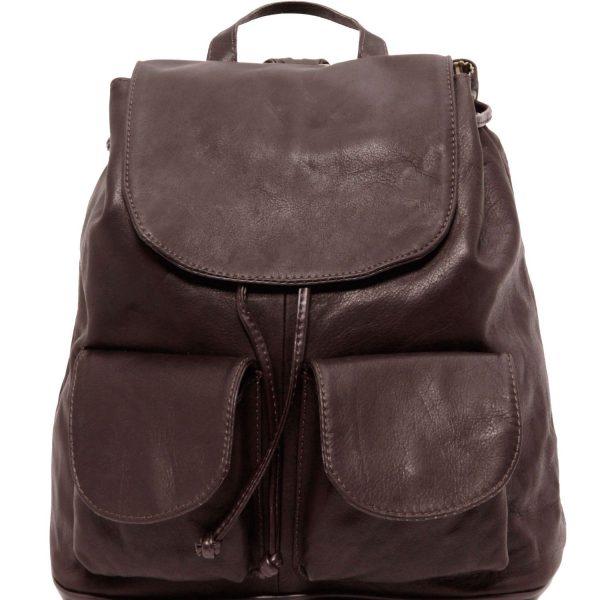 Leather Backpack - Large Size - Seoul