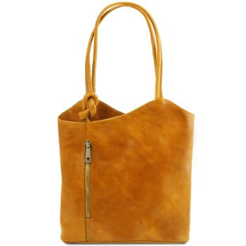 Leather Convertible Bag - Patty