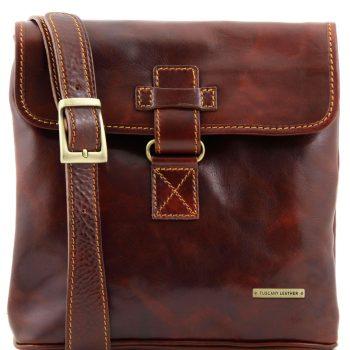 Leather Crossbody Bag - Andrea