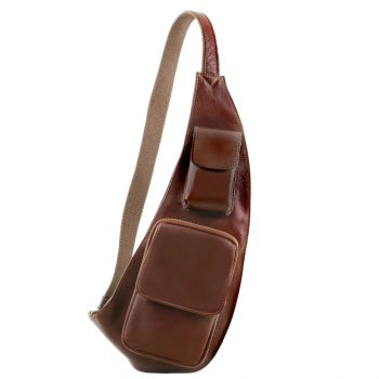 Leather Crossover Bag - Aribe