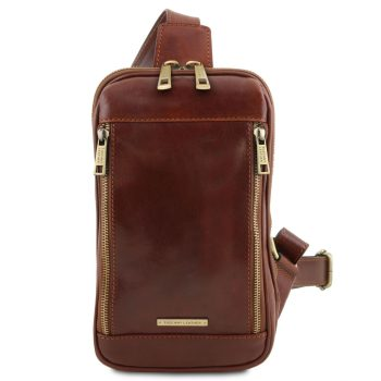 Leather Crossover Bag - Martin