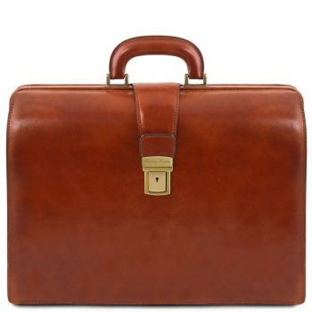 Leather Doctor Bag Briefcase 3 Compartments - Canova