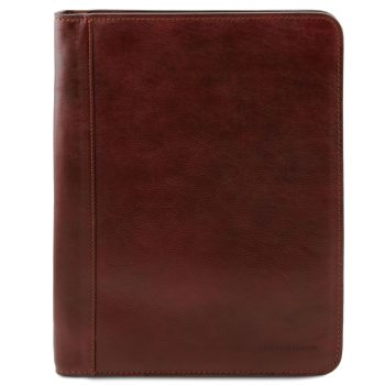Leather Document Case with Zip Closure - Luigi XIV