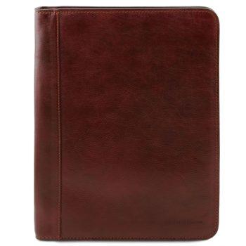 Leather Document Case with Zip Closure - Luigi XIV