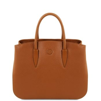 Leather Handbag - Camelia
