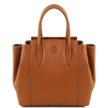 Leather Handbag - Tulipan
