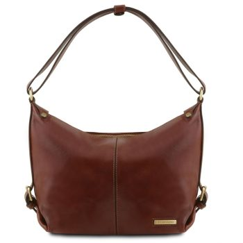 Leather Hobo Bag - Sabrina