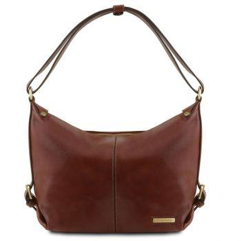 Leather Hobo Bag - Sabrina
