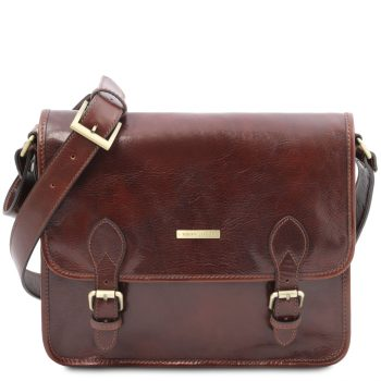 Leather Messenger Bag - Postman