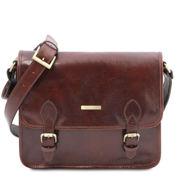 Leather Messenger Bag - Postman
