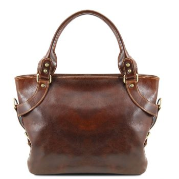Leather Shoulder Bag - Ilenia