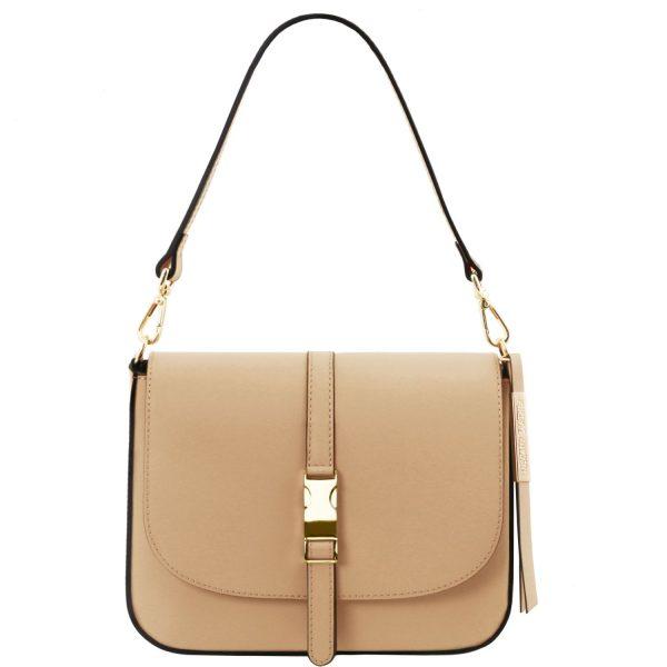Leather Shoulder Bag - Nausica