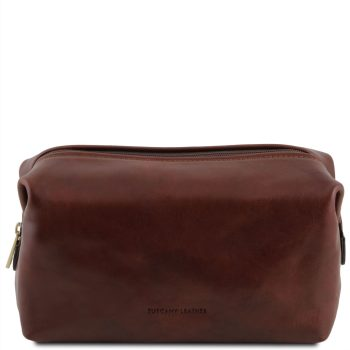Leather Toiletry Bag - Large Size - Smarty
