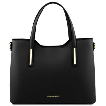 Leather Tote Bag - Olimpia
